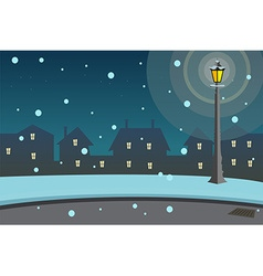 Street lamps background vector image vector image