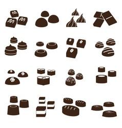 Sweet chocolate truffles styles icons set eps10 vector