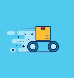 cargo loader logotype design vector image vector image