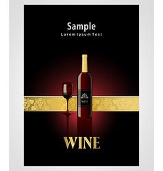 cover poster face wine red vine grape ornament vector image