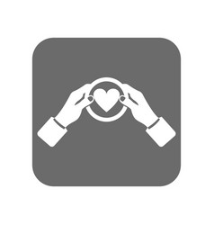customer service icon with like sign vector image