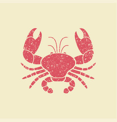 flat icon of a crab vector image vector image