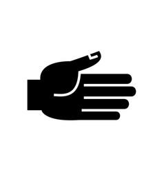 hand open icon black sign o vector image