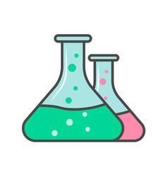 laboratory glassware linear icon vector image vector image