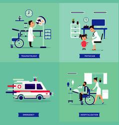 medical treatment concept vector image