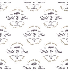 monochrome seamless pattern with old style vector image