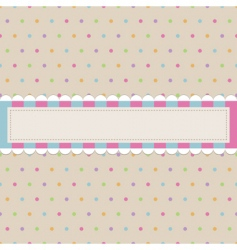 retro polka dot with banner vector image vector image