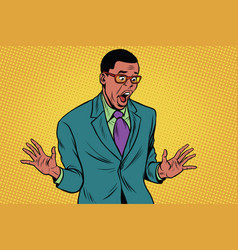 shocked african american businessman vector image vector image