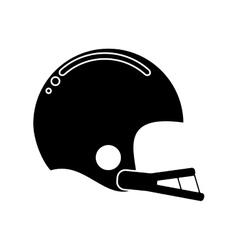 Silhouette american football helmet sport vector