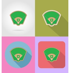 sport flat icons 52 vector image