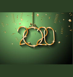 2020 happy new year background for your seasonal vector