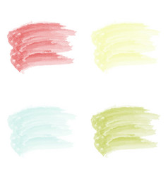 4 stroke watercolor paint brush isolated on vector image