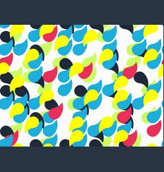 abstract geometric pattern with drops vector image