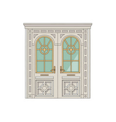 Antique door or entrance to palace vector