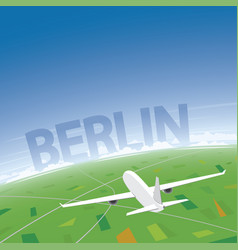 Berlin flight destination vector
