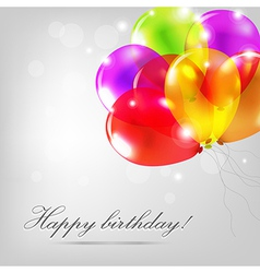 Birthday Card With Color Balloons vector