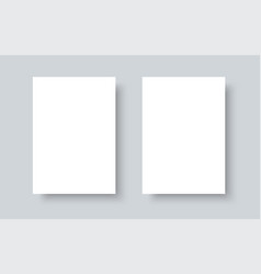Blank white paper mock up realistic vector