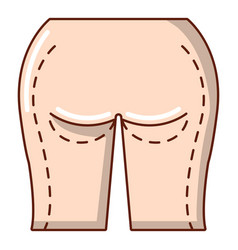 buttocks liposuction icon cartoon style vector image