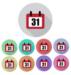 calendar days flat set vector image