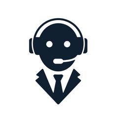 call center operator icon vector image