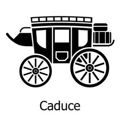 Carriage icon simple black style vector