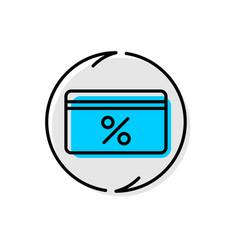 cash back service icon cashback concept line vector image