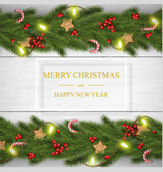 Christmas on white wooden background with vector