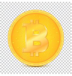 coin of virtual currency bitcoin icon golden vector image