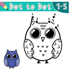 connect digits and draw a funny owl vector image