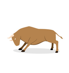 cow ox and bull in flat design side view vector image