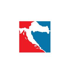 Croatia map logo icon symbol vector