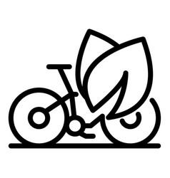 Eco bike ride icon outline style vector