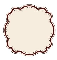 Elegant frame decoration isolated vector