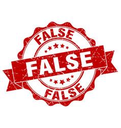 false stamp sign seal vector image