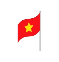 Flag of Vietnam icon isometric 3d style vector