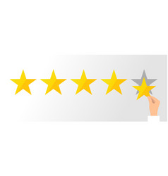 flat rating and ranking concept vector image