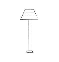 floor lamp light electric furniture decoration vector image