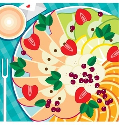 Fruit platter vector