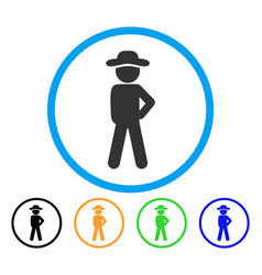 gentleman audacity rounded icon vector image