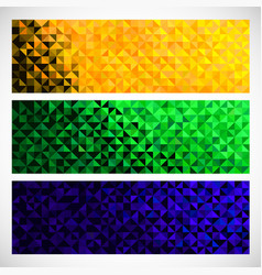 Geometric banner brazil flag color vector