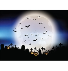 Halloween moon landscape vector