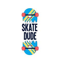 Hand drawing skateboard vector