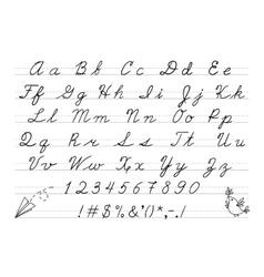 Hand drawn uppercase calligraphic alphabet vector