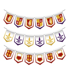 heraldic bunting flags vector image