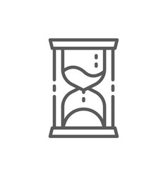 hourglass time management line icon vector image