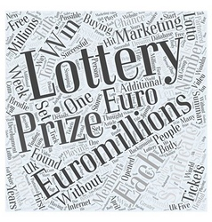 How to win Euro Millions lottery prizes every week vector