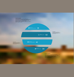infographic template with circle horizontally vector image vector image