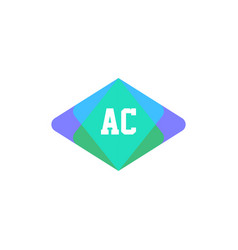 initial letter logo ac template design vector image