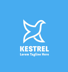 kestrel abstract sign emblem or logo vector image