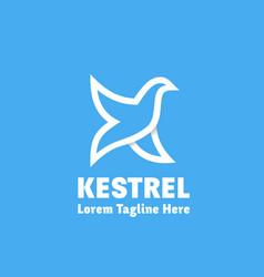 Kestrel abstract sign emblem or logo vector